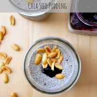 Peanut Butter and Jelly Chia Seed Pudding