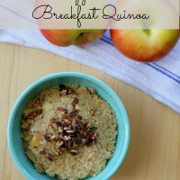 Baked Apple Cinnamon Breakfast Quinoa
