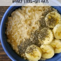Peanut Butter, Banana, and Honey Steel-Cut Oats