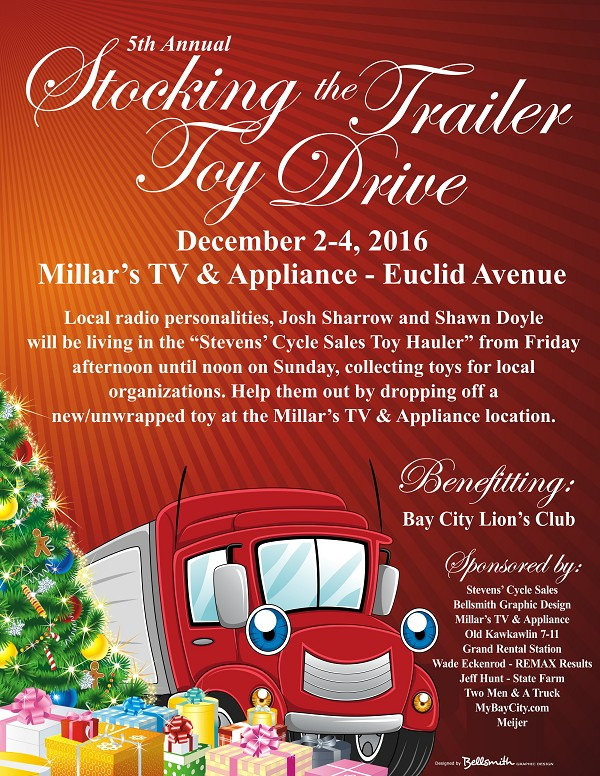 MyBayCity 5th Annual Stocking The Trailer Toy Drive Planned for - christmas toy sales