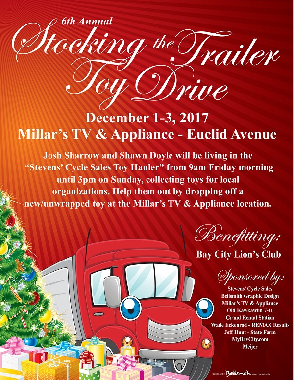 MyBayCity 6th Annual Stocking The Trailer Toy Drive Planned for