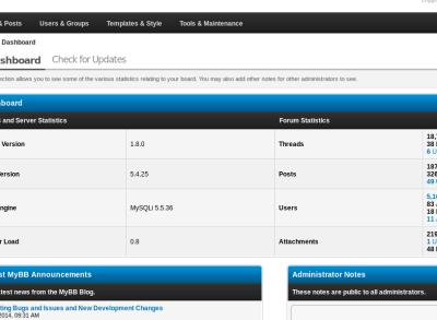 Install MyBB forum