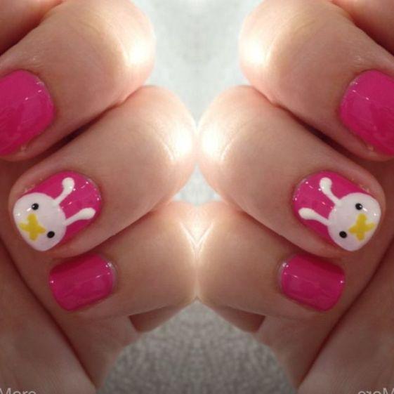 cute rabbit nail art