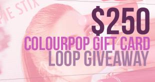 ColourPop Giveaway $250 prize