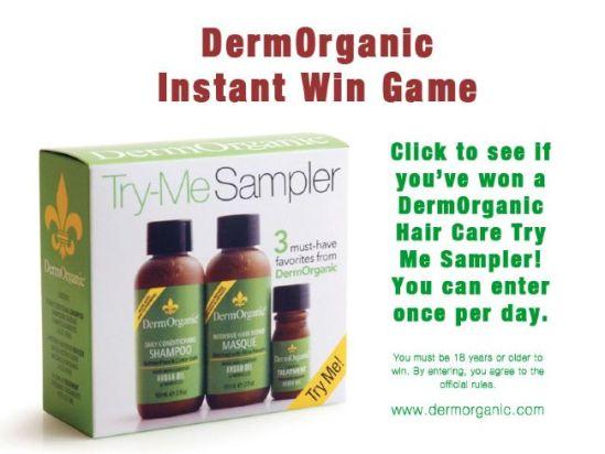 DermOrganic Instant Win Contest