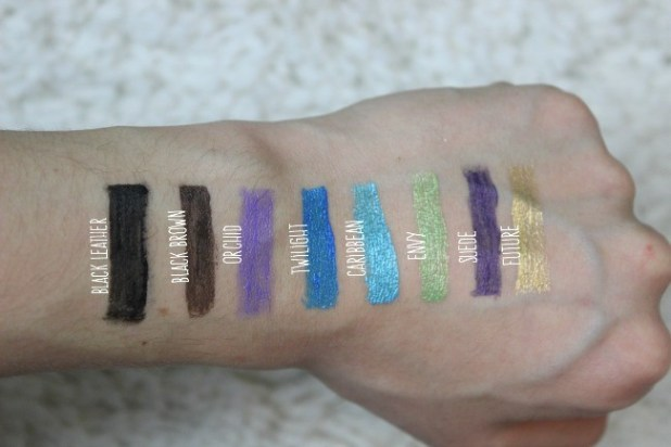 Jordana Cat Eye Liner Swatches