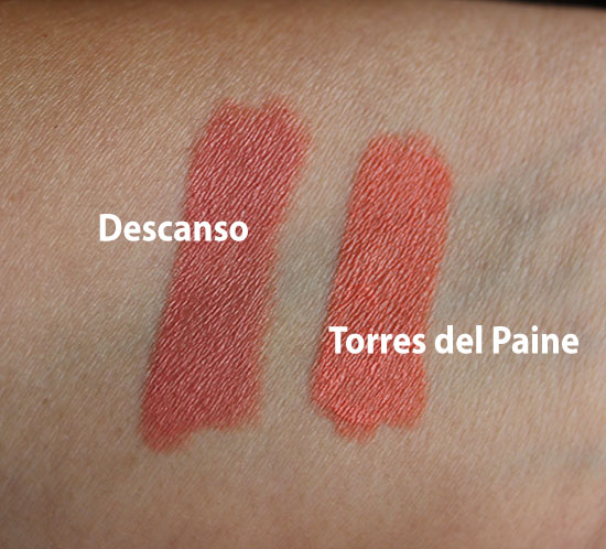 NARS Final Cut Lip Pencil Swatches Descanso and Torres del Paine