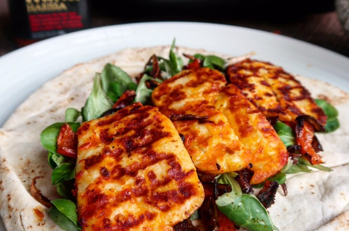 Harissa Halloumi Wraps Recipe