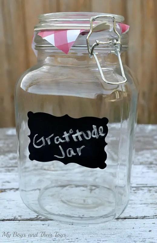 New Year's gratitude jar
