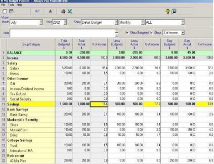 Budgeting Software For Family or Individual