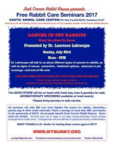 Rabbit Care Seminar July 2017