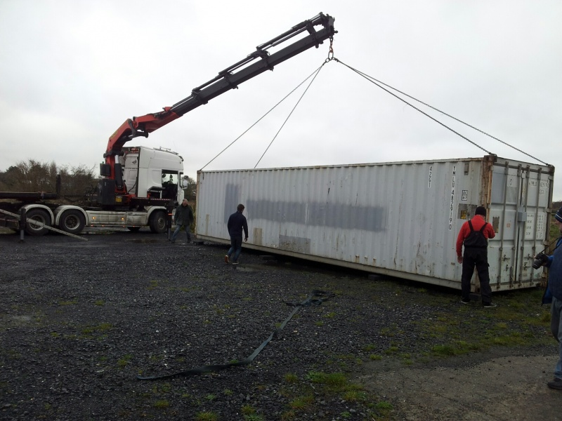 Sea Scout Container Moves In