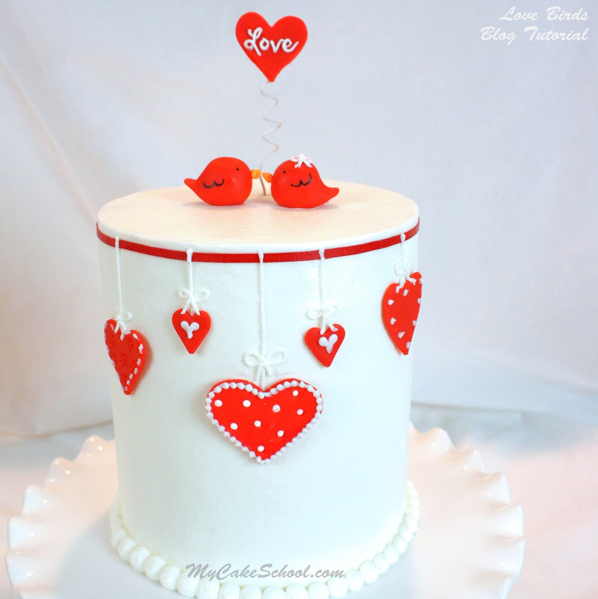 Free Wallpapers Of Cute Teddy Bears Cute Valentine S Day Cake Tutorial With Love Birds My