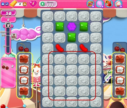 Candy Crush Saga niveau 181
