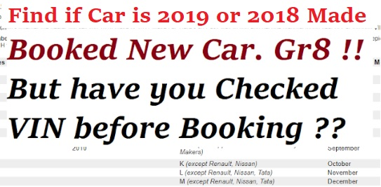 Decode Manufacturing Date of Car How to Find 2019 VIN Car Easily