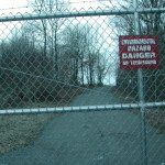 The gated entrance to Laurel Park on Hunters Mountain Road