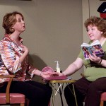 KC Ross, left, and Kathy Cook star as Carlene Travis and Nita Mooney, respectively, in a scene from 'The Hallelujah Girls,' a Phoenix Stage Company production running through Dec. 4 at 686 River Ave., Naugatuck.