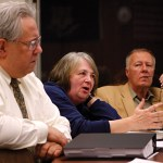 From left, Naugatuck Long-term School Facility Planning Committee members Wayne McAllister, Barbara Lewis and Warren Hess discuss changes to borough schools. Eight of the district's 11 schools are more than 50 years old and will need to be upgraded over the next 10 to 15 years.