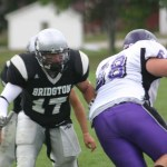 CONTRIBUTED Michael Kennedy looks to make a tackle for Maine's Bridgton Academy.