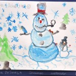 Naugatuck's Joshua DeSantis, 9, painted the painitng above, which is currently on display at the Middlebury Public Library.