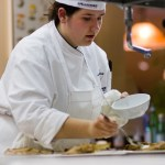 Emma Louth competes in the S. Pellegrino Almost Famous Chef Competition held earlier this month in Napa Valley, Calif. Louth won the Acqua Panna Fan Favorite Award. -CONTRIBUTED