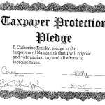 Republican candidate for burgess Catherine Ernsky signed a taxpayers protection pledge. CONTRIBUTED