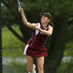 Naugatuck High School junior Miranda Jang has been the strongest player for the Greyhounds in this year of runs for tennis team. FILE PHOTO