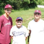 The Mehmedi brothers, from left, Drin, Arbnor and Arber at their home in Naugatuck. The three brothers have made themselves more than comfortable in Naugatuck's baseball scene. KEN MORSE