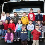 Students from Tender Years Preschool toured the Naugatuck Fire House Oct. 21.