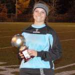 Naugatuck goal keeper Kaitlin Carter was named co-MVP of the Naugatuck Valley League girls soccer tournament. KEN MORSE