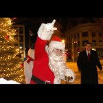 Santa brings in the holiday cheer at Naugatuck's tree lighting ceremony last year.