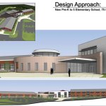 This conceptual design by Fletcher Thompson Architects of Shelton shows what the proposed new elementary school in Prospect could look like. CONTRIBUTED