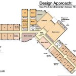 This conceptual design by Fletcher Thompson Architects of Shelton shows the proposed layout for the first floor of a new elementary school in Prospect. CONTRIBUTED