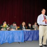 The Board of Education and Mayor Robert Mezzo heard concerns from residents during a public hearing about the possibility of closing Central Avenue School.