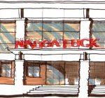 This artistic rendering shows the front of Naugatuck High School following the renovations. –CONTRIBUTED