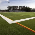 "The use of ""crumb rubber"" as fill under a synthetic turf field, like the one at Cheshire High School pictured above, planned for Naugatuck High School has stirred a debate locally. –RA ARCHIVE"