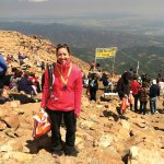 Naugatuck resident Jenny Willets at the Pike's Peak Ascent and Marathon in Colorado. Willets, a survivor of an abusive relationship, is running in the Spartan Ultrabeast Race Sept. 21 in Killington, Vt., to raise money and awareness for the Connecticut Alliance for Victims of Violence and Their Families. –CONTRIBUTED