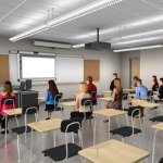 An artistic rendering of what a classroom will look like at Naugatuck High School after the renovations. –CONTRIBUTED