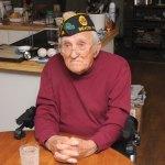 U.S. Navy veteran Walter Mis of Beacon Falls has volunteered at the Schaefer-Fischer American Legion Post 25 for 66 years. -LUKE MARSHALL