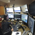 Kelly Orsni, a dispatcher for the Naugatuck Police Department for 23 years, works at the dispatch center earlier this year. The borough approved a new three-year contract for police dispatchers earlier this month. –RA ARCHIVE