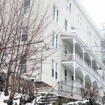A fight in an apartment in this multi-family building at 8 Pond St. in Naugatuck preceded the fall of a 24-year-old Martin Salomon of Stratford from a fourth-story window. –FILE PHOTO