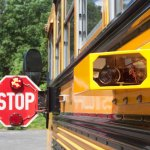 A camera installed on a Wolcott school bus to cite people who pass stopped school buses. The Board of Mayor and Burgesses and Board of Education have approved a plan to install similar cameras on buses in the borough. –RA ARCHIVE