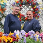 Dave Rubino, left, and Tom Wheeler, co-owners of Plumb Farm Nursery & Flowers on Cheshire Road in Prospect, will be recognized with the Prospect Grange's Public Service Award on Sunday. –ELIO GUGLIOTTI