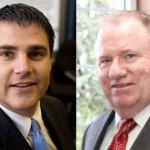 Mayor Robert Mezzo, left, a Democrat, and attorney James O'Sullivan, a Republican, are vying for Naugatuck's top political seat.