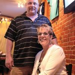Samantha and Richard Caron of Naugatuck are the owners of The Pour House Sports Tavern on Church Street in Naugatuck. A ribbon cutting ceremony was held at the sports bar Aug. 30. –ELIO GUGLIOTTI