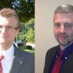 A recount Tuesday of the votes for burgess candidates confirmed Republican Alex Olbrys, left, held won the final burgess seat over fellow Republican Ed Fennell.