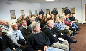 Prospect business owners fill the meeting room in Town Hall on Feb. 28 during a meeting to discuss starting a new business group. –LUKE MARSHALL