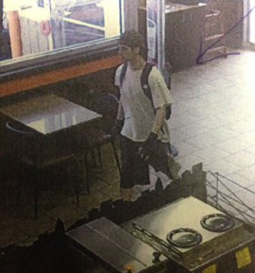 Naugatuck police are seeking the public's help to identify the suspect pictured above. –CONTRIBUTED