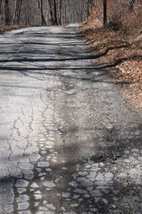 Hunters Mountain Road in Naugatuck is one of the borough-owned roadways identified in a recent study that needs to be completely reconstructed. –LUKE MARSHALL