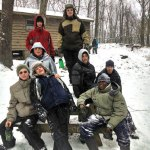 Boy Scouts from Troop 102 in Naugatuck, from left, (front row) CJ Werner, Jessie Bronko, Javon Brady (middle) Nick Hanks, Jonathan Lauer, Ethan Maxwell (back) Russell Andrew and Justin Wagner participated in a camping trip in the backcountry at Camp Mattatuck during a snow storm Dec. 14-15. Scouts experienced the storm in a rustic cabin to sharpen their outdoor skills. For more information, visit www.troop102ct.com. -CONTRIBUTED
